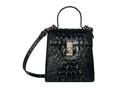 Brahmin Melbourne Midge Crossbody (Black) Handbags
