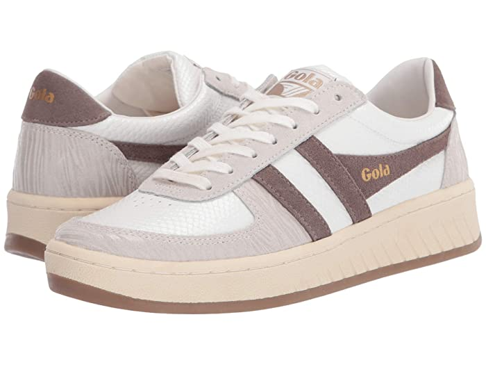 Gola  Grandslam Reptile (Off-White/Taupe Grey) Womens Shoes