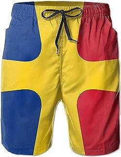 Bernice Winifred Flags of Romania Hombres Bañadores de Secado rápido Pantalones Cortos de Playa Pantalones