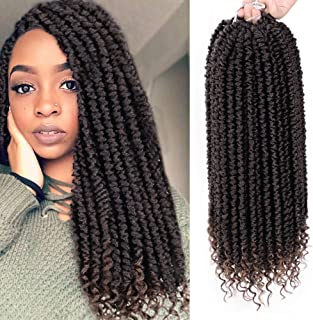 ENTRANCED STYLES 8 Packs Senegalese Twist Crochet Braids Curly End 14 Inches Havana Mambo Crochet Hair Extension Synthetic Spring Twist Crochet Hair for Women (T30)