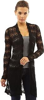 Women Open Stitch Crochet Lace Cardigan