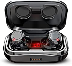 GRDE X10 TWS Wireless Earbuds, Bluetooth 5.0 Headphones 105H Playtime with 3000 mAh Charging Case [As Power Bank], Stereo Auto Pairing in-Ear Bluetooth Earphones with Mic Wireless Headset 2019