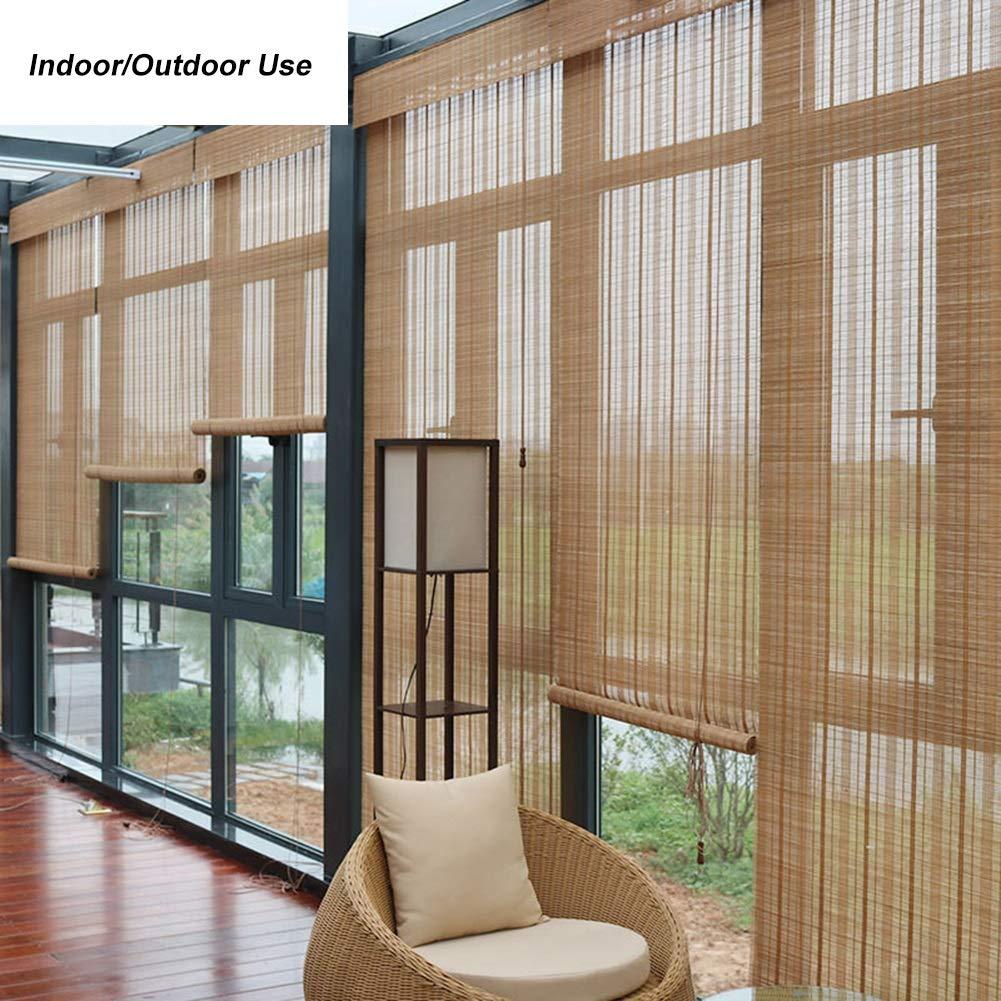 Persiana de bambú Persianas Enrollables para Exteriores, Pérgola ...