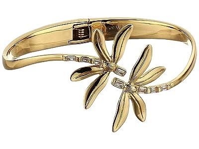 Vince Camuto Organic Spring Hinge Dragonfly Bracelet (Gold/Crystal) Bracelet