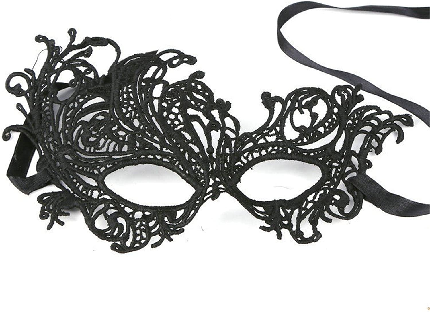 Mardi Gras Party Masquerade Mask,Halloween Fancy Dress Dance Party Party Dress up mask Sexy Queen Cosplay Half face oneEyed Openwork lace mask DT19 Prom Masks