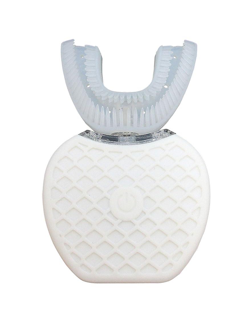 バーマド実証する出席するBroadwatch 電動歯ブラシ U型 360° 全方位 360度 4段調節 IPX7レベル防水 自動 歯ブラシ ホワイトニング