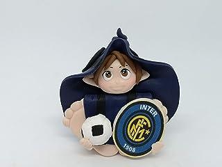 Folletto Gnomo elfo squadra Calcio Inter idea regalo Handmade personalizzabile con il nome. SI ILLUMINA AL BUOI. Made in I...