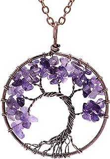 raw amethyst pendant