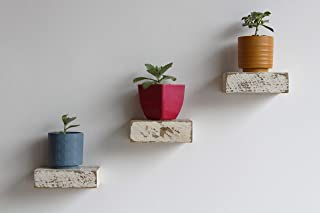 Urban Legacy Small Reclaimed Wood Floating Shelves (White Wash 6