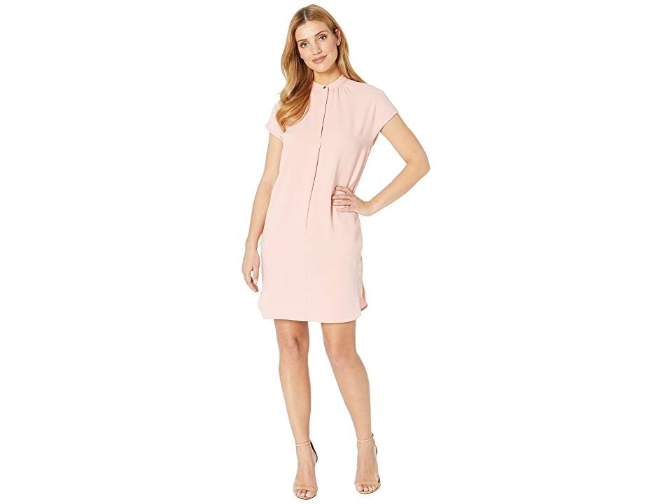 LAUREN Ralph Lauren Crepe Shift Dress (Primrose) Women