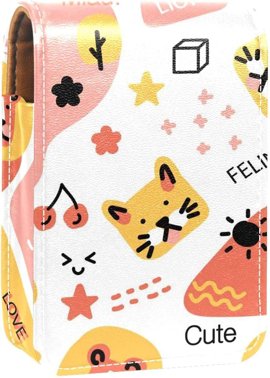 Lipstick Case With Mirror Daily bargain sale Animals Pattern Cute Gloss New products, world's highest quality popular! Lip Tigher