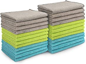 AIDEA Microfiber Cleaning Cloths All-Purpose Softer Highly Absorbent (Pack-24), Lint Free - Streak Free Wash Cloth for Hou...