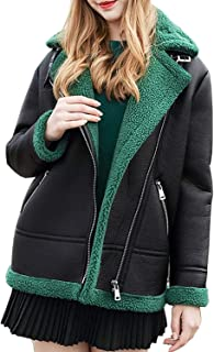 Surprise S New Leather Jacket Women Coatcashmere Thick Pu Leather Shearling Coats As3713