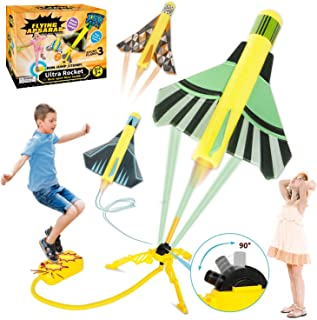 HISTOYE Toy Air Rocket Launcher for Kids Launch Toys with 3 Stunt Planes Boys Toys Age 6-8 Fun Indoor & Outdoor Activity L...