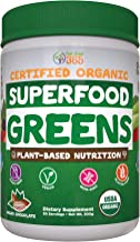 Sponsored Ad - Superfood Vital Greens Powder, USDA Organic by Feel Great 365 | Cacao Chocolate, Whole30 Friendly, and Vega...