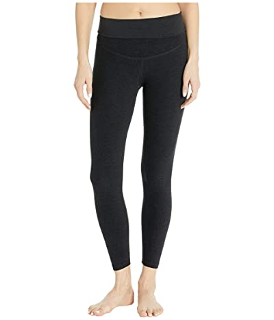 Beyond Yoga Maternity Empire Waisted Capri Leggings (Darkest Night) Women
