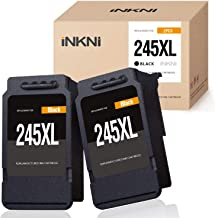 INKNI Remanufactured Ink Cartridge Replacement for Canon 245XL 246XL Ink for Pixma MX492 MX490 MG2420 MG2520 MG2522 MG2920 MG2922 MG3022 MG3029 iP2820 TR4520 TS3122 TS3120 TS202 (Black, 2-Pack)