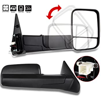 Left Hand Side Cipa USA CIPA 73121 Extendable Replacement Electric Towing Mirror fits 98-01 Dodge Ram 1500 98-02 Ram 2500 and 3500 Pickups