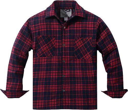 WenVen Homme Chemise de Flannel à voiturereaux Chaude d'hiver