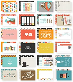 Simple Stories Snatp! Double-Sided Card Pack, 4 by 6-Inch, Cat, 24-Pack