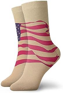 Pengyong, Pengyong - Calcetines de deporte para hombre, diseño de bandera americana
