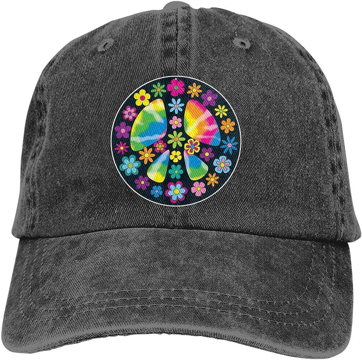 Art Peace Signs Hat Vintage 100% Cotton Washable Adjustable Classic Baseball Cap Unisex Dad Hat