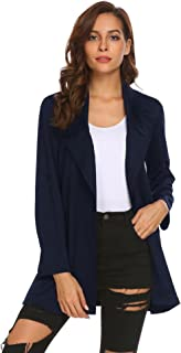 Zeagoo Womens Casual Work Office Open Front Long Blazer Jacket
