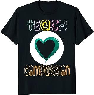 Teach Compassion Ribbon Sexual Assault Awareness month shirt