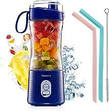 Vaeqozva Draagbare persoonlijke mixer voor smoothie en shakes, 6 krachtige 3D-messen, 4000 mAh, USB-oplaadbare sapbeker me...