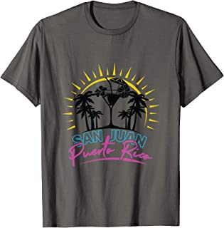 San Juan Porto Rico Vacances Plage Voyage Cadeau T-Shirt