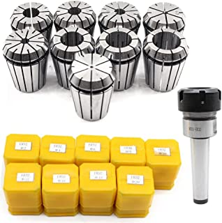 CNC Spring Collet by Feiuruhf,MT3-ER32 M12 9pcs Spring Collet 3-20mm CNC Lathe Milling Tool Spring Collet Set Chuck Collet for CNC Engraving Machine & Milling Lathe Tool