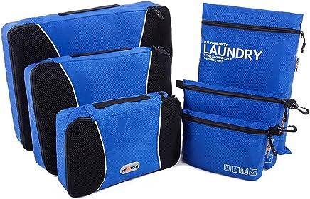 NEXTOUR Packing Organisers 6pcs Set Packing Cube for Travel Luggage (Blue)
