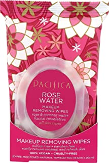 Pacifica Makeup Removing Wipes, Rose Water, 240Count