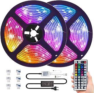 comprar comparacion 10M RGB Tira de LED 12V con Chip SMD 5050, ESEYE IP65 Impermeable Flexibles Multicolor 300 LEDs Strip Tiras Con Mando a Di...