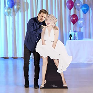 Star Cutouts, Marilyn Monroe White Dress Cardboard Cutout Standee