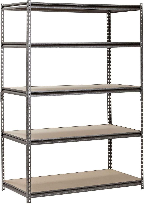Heavy Duty Garage Popular brand in the world Shelf Steel Metal 5 S Storage Adjustable Max 85% OFF Level