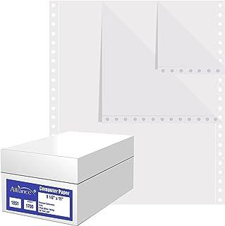 کاغذ رایانه ای بی سیم Carbonless Premium ، 9.5 x 11 ، سوراخ سوراخ سمت چپ و راست ، 15 پوند ، دو قسمت سفید / سفید (1700 برگه) - ساخته شده در ایالات متحده