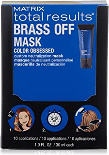 MATRIX Total Results Brass Off Color Depositing Custom Neutralization Hair Mask | Repairs & Protects Fragile Hair | For Color Treated Hair