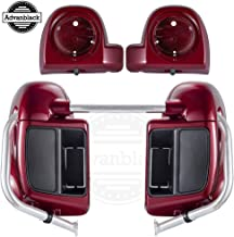 Advanblack Hard Candy Hot Rod Red Flake Lower Vented Fairings with 6.5 inch Speaker Pods For Harley Touring Road Glide Special Street Glide Special Road King Special 2018