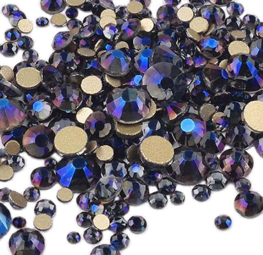 XIULI カラー ラインストーン DIY ネイルを飾てと服装使用 高い採光 約1440粒(ss3-20混合サイズ) (バイオレット)