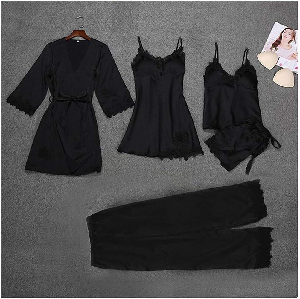 Women's 55% OFF OFFicial shop 5 pcs Strap Pants Suit Aut Pajamas Sleepwear Sets Spring