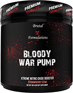 Brutal Formulations Bloody WAR Pump Extreme Nitric Oxide Booster - 30 Servings (Strawberry Kiwi)
