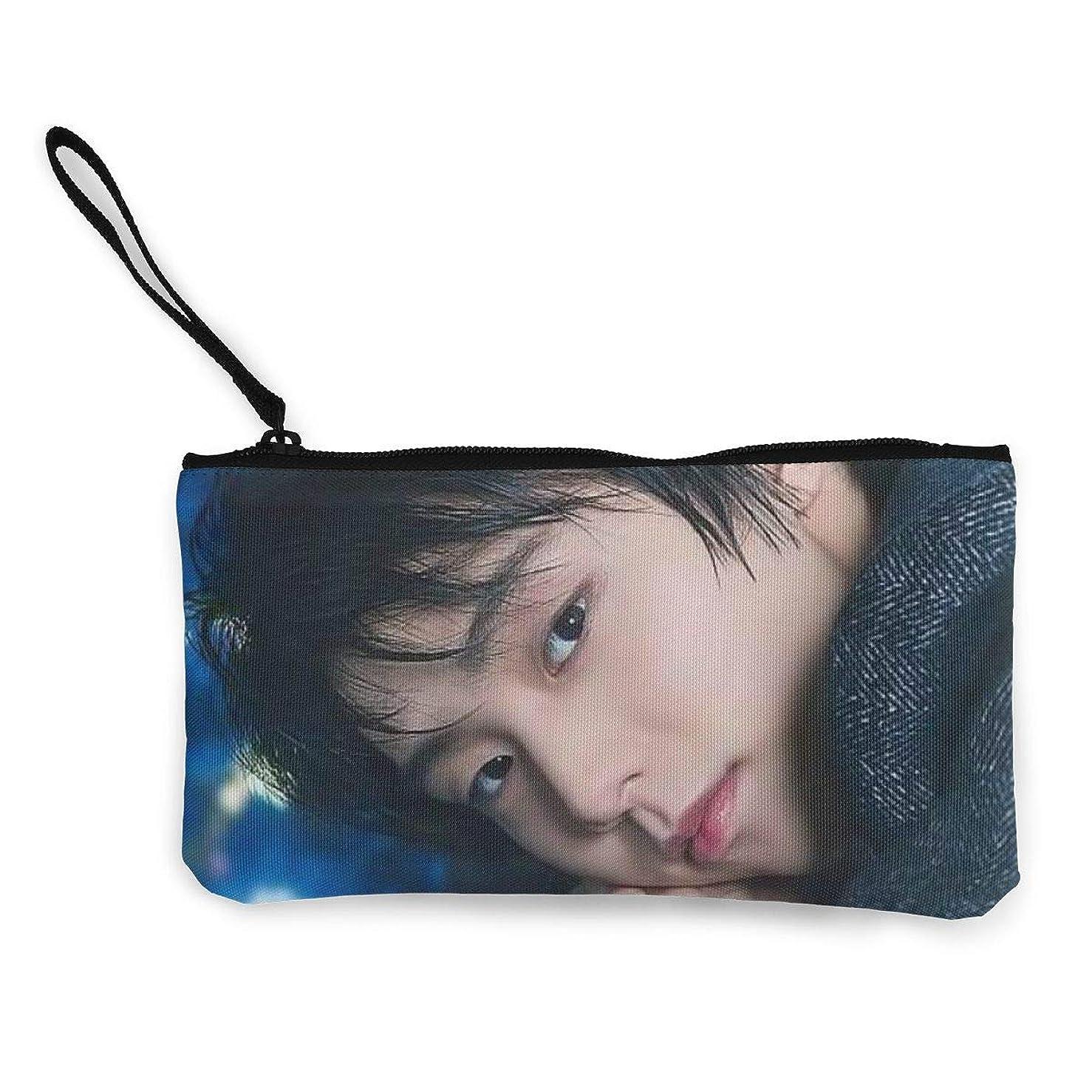 本会議第三飢えた羽生結弦 はにゅう ゆづる Yuzuru Hanyu 小銭入れ ワレット 財布 キャンバス ジッパー付きハンド 大容量