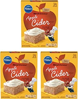 Pillsbury Moist Supreme Apple Cider Cake Mix 15.25 Oz! Makes 24 Cup Cakes Per Box! Premium Cake Mix Perfect For Homemade Cakes! Choose From 1 Pack, 2 Pack Or 3 Pack! (3 Pack)