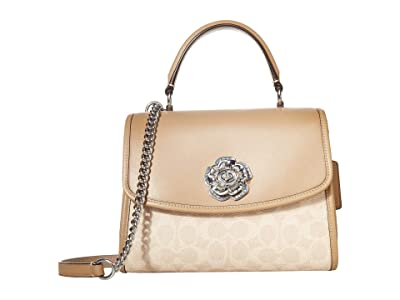 COACH Soft Parker Top Handle (LH/Sand Taupe) Handbags