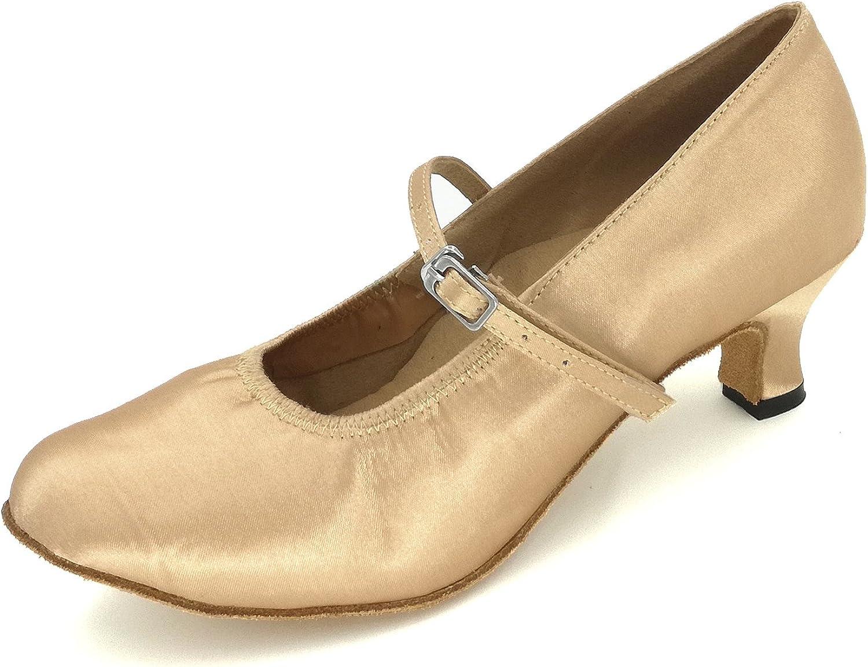 Yiteli Women's Closed Toe Ballroom Dance shoes US5.5-11.5