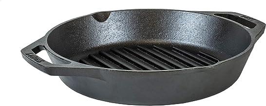 "Lodge 10.25"" Cast Iron Dual Handle Grill Pan, Black"