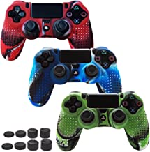 Skin Compatible for PS4 Controller Grips Cover Pandaren Studded Anti-Slip Silicone Sleeve for PS4 /Slim/PRO Controller(Con...