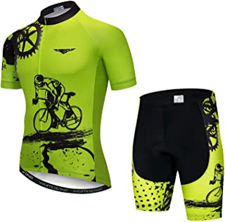 Cycling Jersey Men, Long Sleeve T Shirt Men, Biking Riding Shirt Skull Clothes,Breathable and Quick-Dry