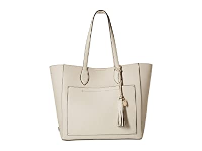 Cole Haan Piper Leather Tote (Ivory) Tote Handbags